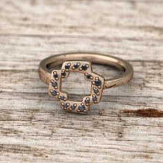The Quaintrelle Open Plus Ring with Full Pave is a beautiful open form ring is based on the classic plus shape. Ring is designed to be asymmetrical and slimmer on one side to allow for interlocking and stacking of multiple rings.