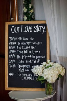 Every couples love story can be part of their ceremony!  Put your timeline at your reception.