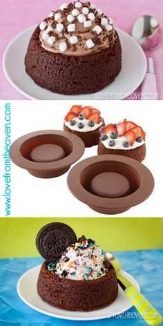 Love this Brownie Bowl Mold!  You can use it with cookie dough as well.  Great for ice cream, mousse, anything!
