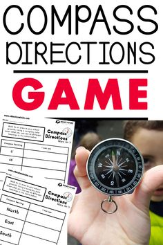 Compass Directions & Angles: Math Challenge - Shape, Space, and Measure Activity Compass Learning, Learning Maps, Science Activities For Kids, Summer Activities, Learning Activities, Projects For Kids, Diy For Kids, Help Kids, Compass Art