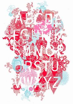 limited edition screen print illustrated alphabet. December 2009