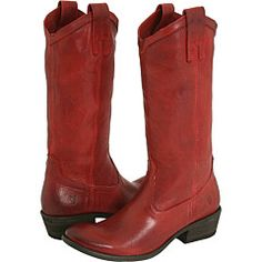 i had a pair of red cowGIRL boots when i was young. i would love to relive that. frye carson pull-on. way too expensive.