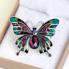 Vintage Rhinestone Crystal Butterfly Brooch Broach Pin Wedding Party Jewelry