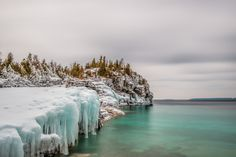 Lions Head Cove in Bruce Peninsula National Park Ontario Canada by Angela House x Tobermory Ontario, Canada National Parks, Coastal, Rustic, Explore, Sunset, Winter, January 4, Building