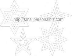 Free Printable Christmas Star Templates Shape Pattern  for Decoration