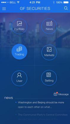 几个很炫的扁平的ios7界面-工具-七彩-登录,列表,选择,炫丽,ios7风格,功能首页-手机APPUI设计分享