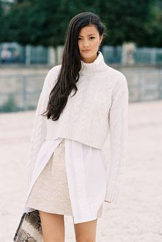 monochrome, layering _ Peony Lim on Vanessa Jackman