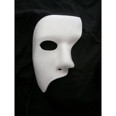 White Leather Mask Phantom Of The Opera Stage Theatre Half Face Courture Masquerade