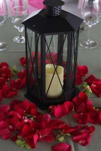 Centerpieces- will use High Grove's lanterns and add red petals around Latern Centerpieces, Wedding Centerpieces, Wedding Decorations, Table Decorations, Christmas Centerpieces, Centerpiece Ideas, Autumn Wedding, Our Wedding, Dream Wedding