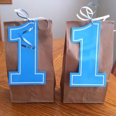 1st birthday boy goody bags. I love how simple and inexpensive these are and still so cute!!