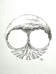 It is tree..yes it is..inkJanuary...#adywicaksono