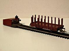 Log stake car - TT by Zeuke & Wegwerth East Germany, Model Trains, Scale Models, Car, Trains, Automobile, Scale Model, Autos, Cars