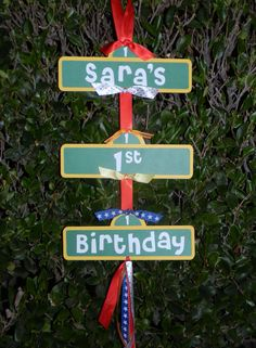 Decorations.  For Alex?? if she has a sesame street birthday