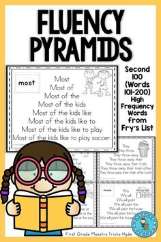 Help your students become fluent in reading High Frequency Words. These Fry's Word Fluency pyramids focus on the second 100 Fry's Sight words. Click the Visit Button to see all the resources in this packet. Reading Tutoring, Reading Fluency, Reading Intervention, Guided Reading, Reading Groups, Fry Words, Fry Sight Words, Beginning Of Kindergarten, Word Study