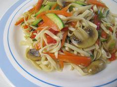 funnypilgrim: Rezept: Gebratene Nudeln mit Gemüse