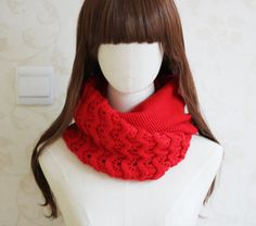 7 colors knitted polyester infinity scarf by blackbeanblackbean, $9.65
