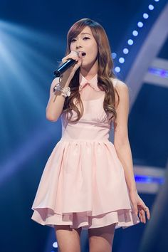 Jessica Jung. In my fantasyland she's the fairy that grants my wishes :3 I'm so weird.