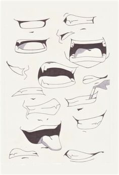#dessin #blackandwhite #crayon #art #bouche #mouth #dent