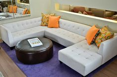 desi sectionals in microfiber
