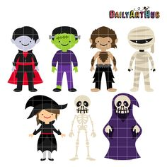 FREE Halloween Monsters Clip Art Set