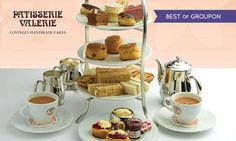 Patisserie Valerie Afternoon Tea, Afternoon Tea For Two, English Afternoon Tea, Logo Patisserie, Carrot And Walnut Cake, Fruit Scones, Mini Carrots, Vegetable Quiche, Decoration Patisserie