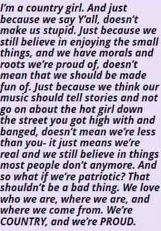 I might be a city girl, but I got my country roots. And this couldn't be more true.