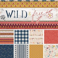 Wild & Free Collection by Maureen Cracknell for by GoobaDesigns