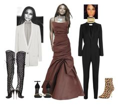"""""""Random Aaliyah Moments"""" by jeroncouture ❤ liked on Polyvore featuring Yves Saint Laurent, Monique Lhuillier, Helmut Lang and Tom Ford"""
