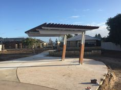 Custom cantilevered pergola on Reef Place Reserve