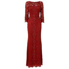 Buy Phase Eight Tahlia Embellished Full Length Dress, Ruby Online at johnlewis.com