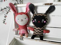 rabbit dolls by Břichopas toys