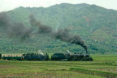 Indonesian railways PNKA CC10 2-6-6-0T CC50 2-6-6-0 mallet cibatu garut cikajang passenger train