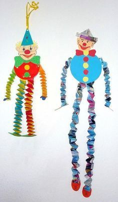 Clowns from witch stairs - Carnival crafts - My grandchildren and I - Made with sch . Clowns made of witch stairs – Carnival crafts – My grandchildren and I – Made with schwedesign. Kids Crafts, Clown Crafts, Circus Crafts, Carnival Crafts, Circus Art, Diy And Crafts, Arts And Crafts, Paper Crafts, Carnival Ideas