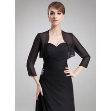 a50d63f7d5f Sheath Column Square Neckline Knee-Length Chiffon Mother of the Bride Dress  With Beading - JJsHouse