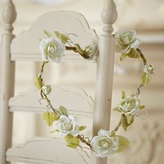 Heart Shaped Rose Wreath-Cream-Large