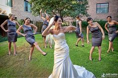 Bride and Bridesmaids - Picture Idea.
