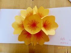 **bloemen pop-up kaart maken WOYWW