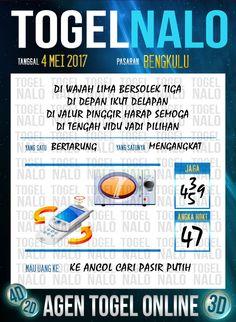 Kode Paito 6D Togel Wap Online TogelNalo Bengkulu 4 Mei 2017