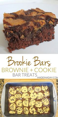 #Brookie Bars! Cookies & Brownies Combined! How to make the popular Brookie Bars! Layering #Brownies and #Cookie dough to make this yummy treat!