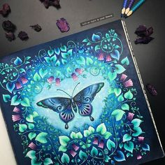 Book: #magicaljungle by #johannabasford Pencils & pens: #stabilo #fabercastell #kohinoor #mondeluz72 #coloringbooks #colouringbookforadults #adultcoloring #adultcolouring