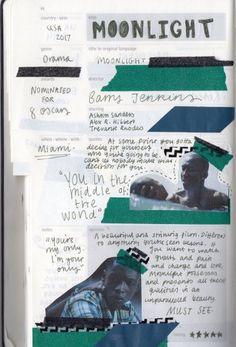 Heart Journal, Music Journal, Photo Journal, Art Journal Pages, Journal Aesthetic, Film Aesthetic, Critique Film, Movie Collage, Writer Humor