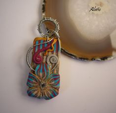 Polymer Clay Jewelry Handmade   Polymer Clay Double Face by Aletis, €25.00