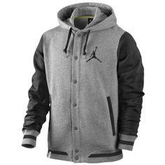 Jordan Varsity Hoodie - Men's - Sport Inspired - Clothing - Dark Grey Heather/Black/Black Size Medium*****