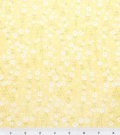 Keepsake Calico Fabric- Tiny Daisy Vine - Yellow: keepsake calico fabric: quilting fabric & kits: fabric: Shop | Joann.com Wooden Window Blinds, Faux Wood Blinds, Bamboo Blinds, Graber Blinds, Blind Art, Vinyl Mini Blinds, Blinds Design, House Blinds, Calico Fabric