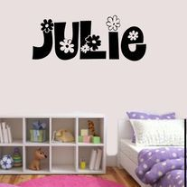 Name Of Your Choice  Great addition to any girls bedroom or nursery. Would make a great gift.  Please be advised that height dimensions may slightly vary due to name choice  ALL DECALS: -Stick to virtually any clean SMOOTH surface -Are made on high quality vinyl -Have 6 year out door any...