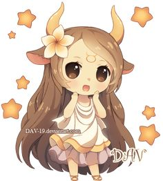 Chibi Taurus by *DAV-19 on deviantART @Victoria Brown Brown Lovely