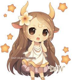 Chibi Taurus by *DAV-19 on deviantART @Victoria Brown Brown Lovely