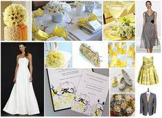 yellow-and-grey-wedding | Wedding | Pinterest | Grey weddings ...