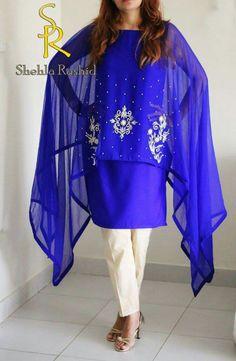b8d7d7db0 Latest Pakistani Cape Style Dresses 2019-2020 Top Designer ...