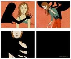 "21 Comics That Capture The Frustrations Of Depression -- ""the persistent, engulfing darkness"""